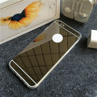 Wholesale Iphone Luxury Case Aluminium - Luxury Protector Cover Aluminium Ultra-thin Mirror Mobile Cell Phone Cases Soft Handy Case For Iphone 5 5s 6 6s 7 7Plus