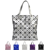 Wholesale Japanese Polyester Bags - Japanese Women BAO BAO Bag Geometry Style Luxury Brand Ladies Shoulder Bags Top Quality PU Leather Shoulder Bags Baobao Casual Handbag Totes