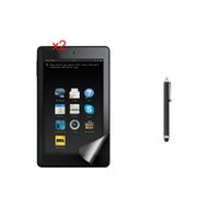 Wholesale Protector For Kindle Fire - Wholesale- 2PCS Anti-Finger Anti-Glare Matte Screen Protector Film Guard + Stylus For Amazon Kindle Fire HD7 HD 7 2015 Generation Tablet