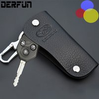 Wholesale Car Keys Cases - Leather Subaru 3 button Key Case Cover for Impreza Outback XV Leather Shell key Accessories Car Styling
