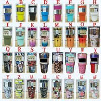 Wholesale Nail Glitter Skulls - NEW 30 oz Stainless Steel Cups Insulation YT Mug Travel Mugs Camo Glitter Color Punisher Skull Two tone Galaxy