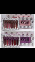 Wholesale Free Box Purchase - Kylie Cosmetics limited edition with every purchase 6 Piece Edition in Box Matte Lipstick Collection Set DHL Free Shipping