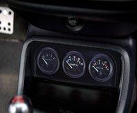 medidor de presión de aceite del coche al por mayor-B735 52 MM 3 en 1 Medidor de Automóvil Medidor de Temperatura del Agua Sensor de Presión de Aceite Triple Kit 3 en 1 calibrador automático de automóviles operación simple