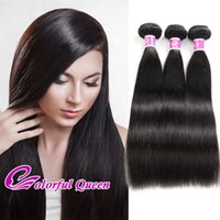 ColorfulQueen Indian Straight Virgin Hair Weaves 3pcs / Lot 300g Extensões de cabelo humano Natural Raw Indian Silky Straight Hair 3 Bundles