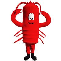trajes de lagosta venda por atacado-Lagosta vermelha Mascot Costume Personagem de Banda Desenhada Adulto Tamanho Longteng alta qualidade (TM)