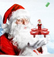 Wholesale Blocks Santa - Father Christmas Mini Quadruple Aircraft Remote Line Santa Claus RC Dronesy Block For Christmas Gift Free Shopping