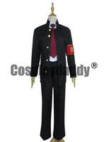 Wholesale Hibari Kyoya - Katekyo Hitman Reborn Hibari Kyoya Halloween Black Uniform Suit Cosplay Costume