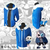 Juego Undertale Sans Coat Chaqueta Unisex Skeleton Zipper Hoodies Anime Cosplay Sudadera para regalo de Navidad Undertale cos Costumes DM1176