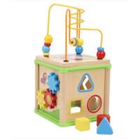 juguetes educativos para niños pequeños al por mayor-Montessori juguetes educativos Montessori materiales de madera alrededor de cuentas niño juguetes de inteligencia infantil bebé niños juguetes con caja
