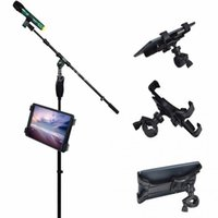 Wholesale Microphone Holder For Stand - 360 Degree Swivel Adjustment Music Mic Microphone Stand Tablet Holder Mount Holder for Apple ipad Samsung Google Tablet PC