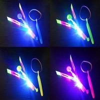 Wholesale Flashing Power Supply - Beautiful Neon Led Light Amazing Elastic Powered LED Arrow Helicopter Shining Rocket Flash Copter Arrow Helicopter Free Shipping