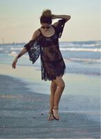 Wholesale Wholesale Crochet Swimsuits - Fashion Swimwears Cover-Ups Sexy bathing suit Lace Off Shoulder Lace Mini Dress Swimsuits Crochet Bikini Beach Cover Up Free Shipping DHL