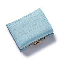 Wholesale Note Card Size - Wholesale- Fashion Stone Women wallet small three fold PU leather coin wallet mini size women purse brand designed female coin purse wallet
