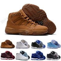 "Wholesale Gold Shoes For Women - With Box Number ""45"" ""23"" Retro 11 Spaces Jams mens Basketball Shoes for Men Women Top quality Airs 11s Athletic Sport Sneakers Size 36-47"