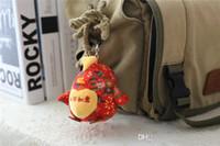 mini tv chinês venda por atacado-2017 Novo Estilo Chinês Frango Mini Brinquedos Sacos Bolsa Pingente de Brinquedo Bonito Chaveiro Crianças Brinquedos Infantis 2 Estilo Presente de Natal