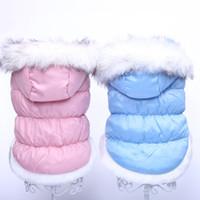Wholesale Dog Dress Hoodie - Dog Cat Coat Jacket Dress Pet Puppy Hoodie Winter Warm Clothes Apparel 5 sizes