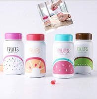 Wholesale Stainless Steel Bottle Print - Stainless Steel Vacuum Cups Cute Cartoon Cat fruit Letter Printed Bottle Water Bottle Student Portable Outdoor Bottle cup KKA1909