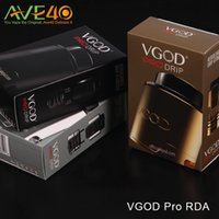 Wholesale Post Direct - Authentic VGOD Pro Drip RDA Tank Four Hole Velocity Style Deck Post Direct Bottom Draw Airflow VS VGOD Pro Rll RDTA