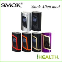 Wholesale Baby Temp - Smok Alien Mod Alien mod 220w VW Temp Control Function Alien TC Box Mod fit for Smok TFV8 Baby Tank 100% Original