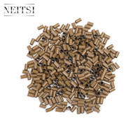 Wholesale Copper Links For Hair Extensions - Neitsi 500pcs Hair Extensions Copper Tubes Micro Rings Shrink Links Tubes for Micro Ring Hair Extensions Black Brown Blonde Available