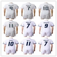 Wholesale Seasons Soccer Jersey - 2016 2017 Spanish super league season home jerseys Men #11 Bale 10 James 9 Benzema 7 Rual Thai version Soccer jersey