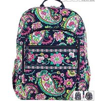 Wholesale Flower Laptop Bags - VB Cotton Flower School Bag Campus Laptop Backpack School Bag Travel College 100% real