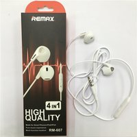 Wholesale Earphones Plug Cell Phone - For RM-607 3.5mm Plug Stereo cell phone Earphone Pure Music Handfree Wired Headset Earphone Wires Earbuds with Microphone For all mobile