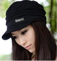 chapéus coreanos do inverno das mulheres venda por atacado-Nova moda chapéu primavera e outono inverno chapéu menina mulher cap menina feminina versão coreana do boné de maré