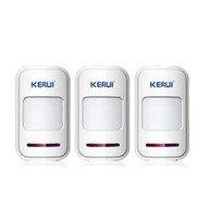 alarma del sensor pir al por mayor-LS111-3PCS / LOT !!! KERUI 433Mhz Sensor inalámbrico inteligente de la puerta del detector de movimiento PIR remoto para 8218G G18 G19 Home Alarm System