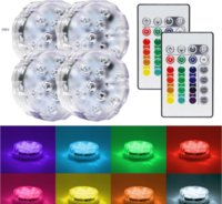 Wholesale Submersible Centerpiece Lights - RGB under vase led Submersible Waterproof LED Accent Light w  24-key IR Remote for Wedding Centerpiece Halloween