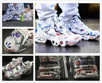 Wholesale Lace Up Pump Boots - 2017 new arrive Boots Running shoes Insta pump Fury x Vetements Graffiti Casual shoes Men Women Outdoor Training Sneaker Shoes size 36-44