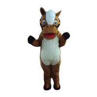 Wholesale Horse donkey Mascot Costumes Cartoon Character Adult Sz Real Picture