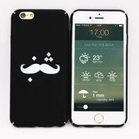 Wholesale Wholesale Moustache Cases - Tomas Moustache cases 360 degree full protection hard back PC Prints for iphone 7 plus cases cover