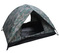 Wholesale Camping Gazebo Tent - Wholesale- Outdoor Camping Camouflage Double Layer Ultralight Ice Fishing Tent Winter Tent Gazebo Sun Shelter 2 Person 4 Season