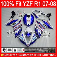 Wholesale r1 fairings fimer for sale - Group buy 8Gifts Colors Injection For YAMAHA YZF1000 YZFR1 YZF Blue FIMER HM21 YZF R1 YZF YZF R YZF R1 Fairing