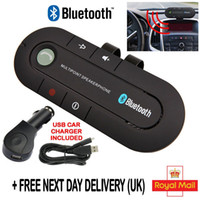 One with two Phones speakerphone iphone - Wireless Bluetooth Handsfree Car Kit Super Speakerphone MP3 music Player For iphone Mobile Phone Dual Phone Connect