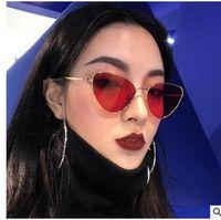 Wholesale Small Square Sunglasses - Elegant Cat eye Women Sunglasses Luxury Brand Designer Small Alloy Frame Gradient Multicolour Len Male Female Eyewear S17011