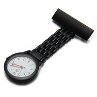 Wholesale Metal Fob Watches - Wholesale-YCYS Black Quartz Movement Nurse Brooch Fob Tunic Pocket Metal Watch