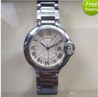 saat severler için hediye toptan satış-Sıcak brandCouple severler İzle kadınlar erkek saatler Moda Tam Paslanmaz çelik Kuvars Saatı Erkekler Bayanlar için en iyi hediye