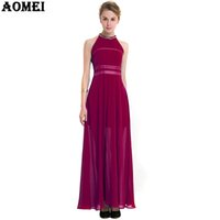 Wholesale Women S Bar Size - Wine Red Blue Color Women Chiffon Maxi Dress with Sequin Bead Decoration Pleat Summer Beach-to-bar Dress Gowns Plus size Clothes