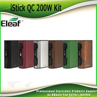 Wholesale Bank Boxes - Original Eleaf iStick QC 200W TC Mod 5000mah Battery Power Bank Reset Function Firmware Upgrading Box Mods 100% Authentic 2205110