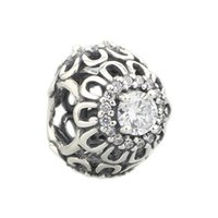 Beads Hunter Jewelry Authentic Sterling Silver 925 floreale brillantezza cz