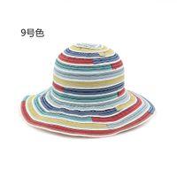 Wholesale Cheapest Ties - Cheapest! Multicolor beach Hats For Women's Female flower Summer Ladies Wide Brim Beach Hats Large brim Sun Caps for travel hat
