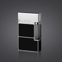 Wholesale Cigarette Lighters For Men - Chinese Lacquer Torch Lighter Black Gold Black Silver Vintage lighters Cigarette gadgets for men lighter PING Sound!!