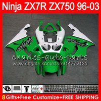 Wholesale Zx7r 1997 - 8Gifts 23Colors For KAWASAKI NINJA ZX7R 96 97 98 99 00 01 02 03 18NO46 ZX750 ZX 7R ZX-7R 1996 1997 1998 2001 2002 2003 Fairing
