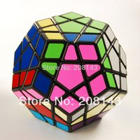 Wholesale Qj Megaminx - QJ Megaminx Plastic Magic Cube Black Hot Selling Brain Teaser Twist Puzzle Toy for Children and Speedcubers