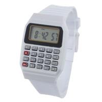 проектная электроника оптовых-Роман дизайн Unsex силиконовые часы многоцелевой Дата Время электронный калькулятор наручные часы и красочные детские часы подарок