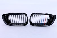 2x Car Kidney Grill Front Grille Para BMW E46 4 portas 3 Series 330i 330Xi 325i 325Xi 2002-2006 Gloss Black M-Color # P41