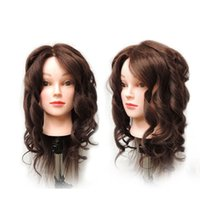 Wholesale Wig Mannequin Heads For Sale - 12Inch Female Training Head 100% Human Hair Hairdressing Practice Training Mannequin Doll Head For Sale Maquiagem Head with Wigs
