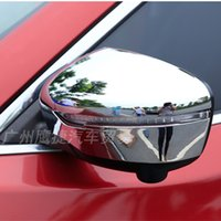 Wholesale New Side Mirror For Car - Car ABS Side Door Mirrors Rearview Cover For NEW JUKE 2014- 2015 Chromium Styling Mirror Rearview Cap for NEW JUKE